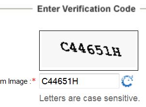 CAPTCHA at IRCTC ticket booking page